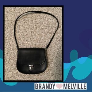 Brandy Melville Little Black Leather Purse